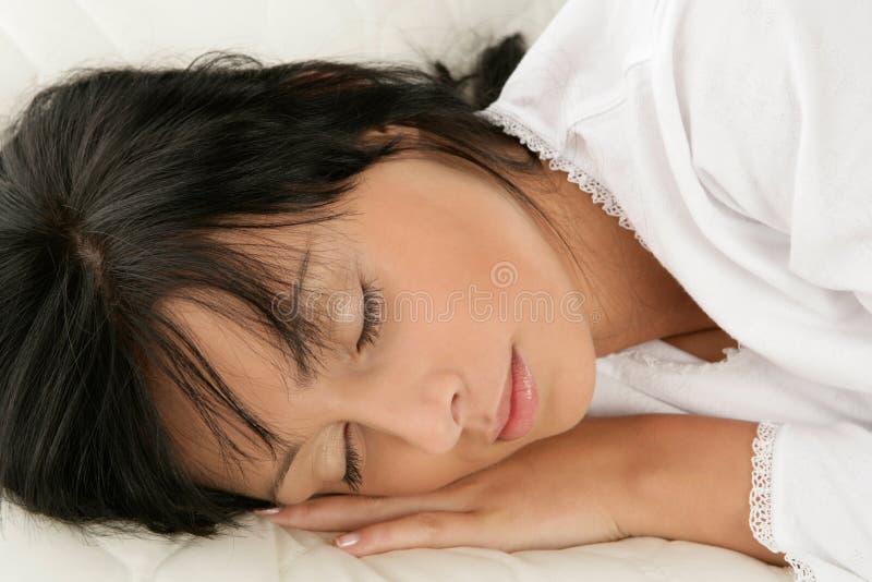 Schlafende Frau stockbild