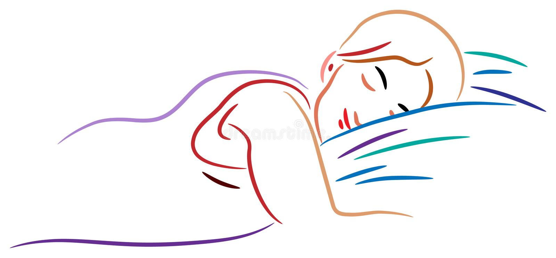 Schlafende Frau lizenzfreie abbildung