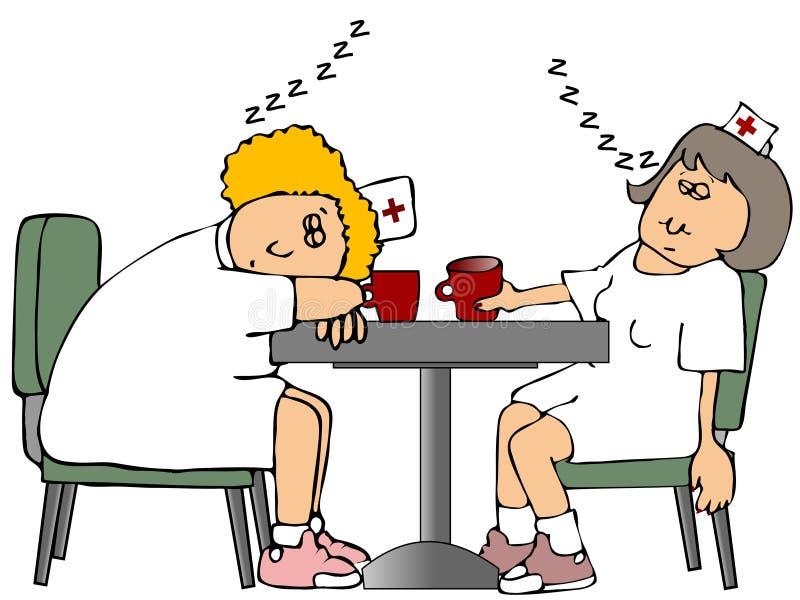 Schlafende Krankenschwestern stock abbildung