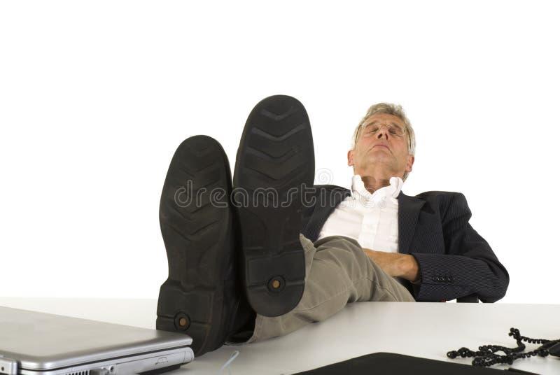 Schlafender CEO lizenzfreie stockfotos