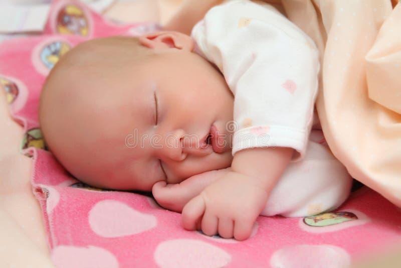 Schlafendes Schätzchen lizenzfreies stockfoto