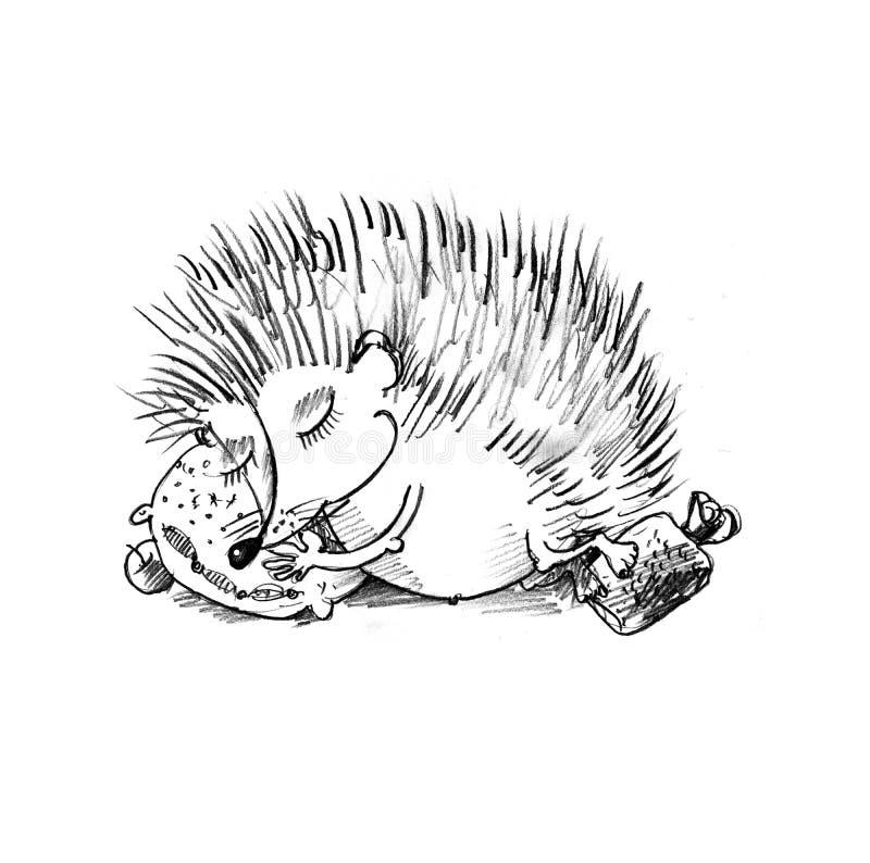 Schlafenigeles stock abbildung