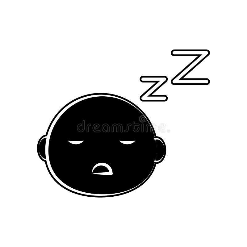 Schlafenkinderikone Element der Mutterschaft für bewegliches Konzept und Netz Appsikone Glyph, flache Ikone für Websiteentwurf un vektor abbildung