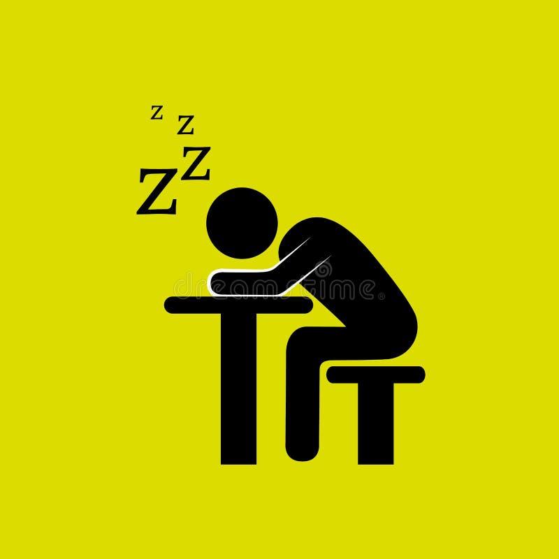Schlafenkonzeptdesign vektor abbildung