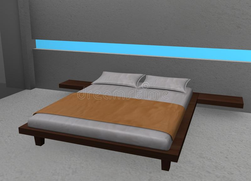 Schlafzimmer stock abbildung