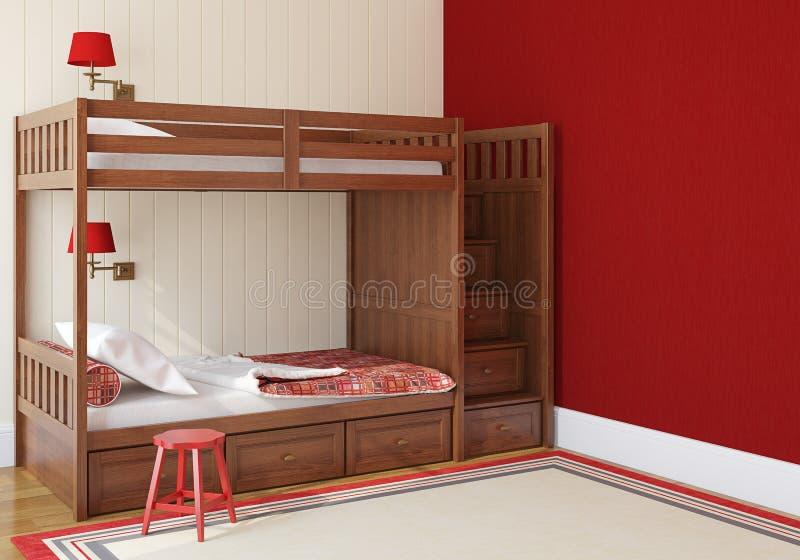 Schlafzimmer der Kinder stock abbildung