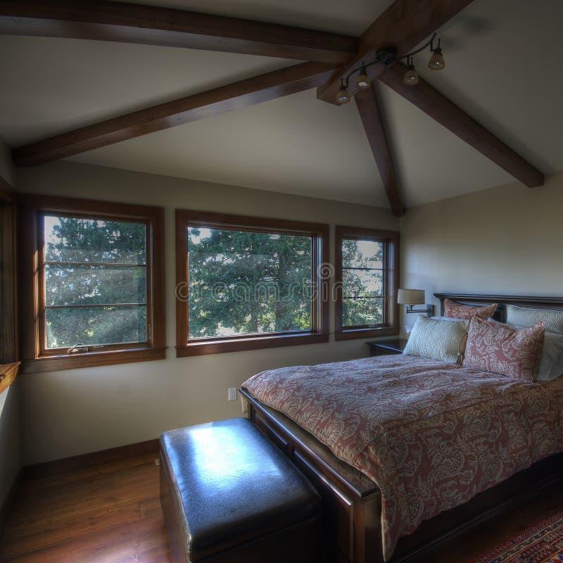 Schlafzimmer-Hauptinnenraum stockbild