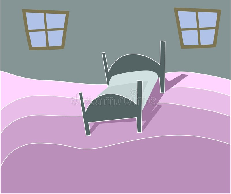 Schlafzimmerabbildung lizenzfreie abbildung