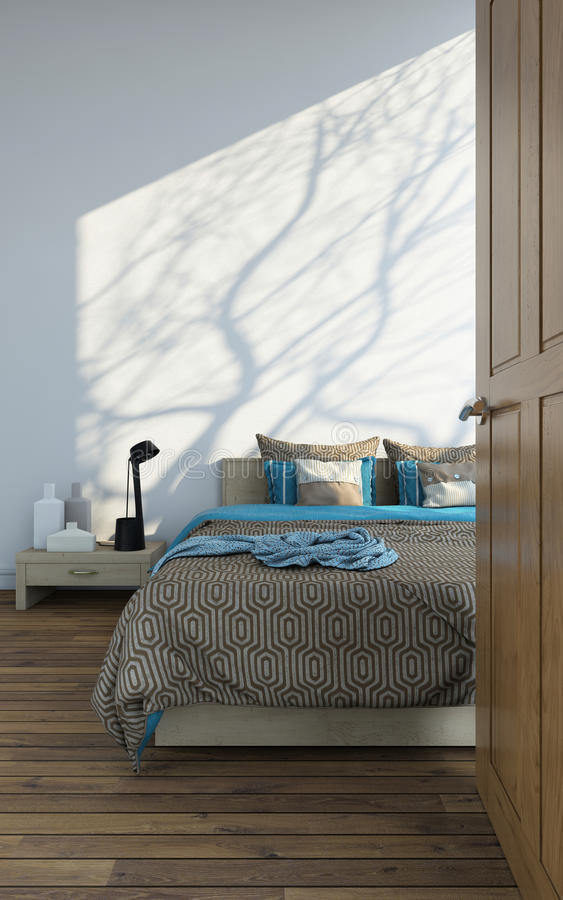 Schlafzimmereingang stock abbildung