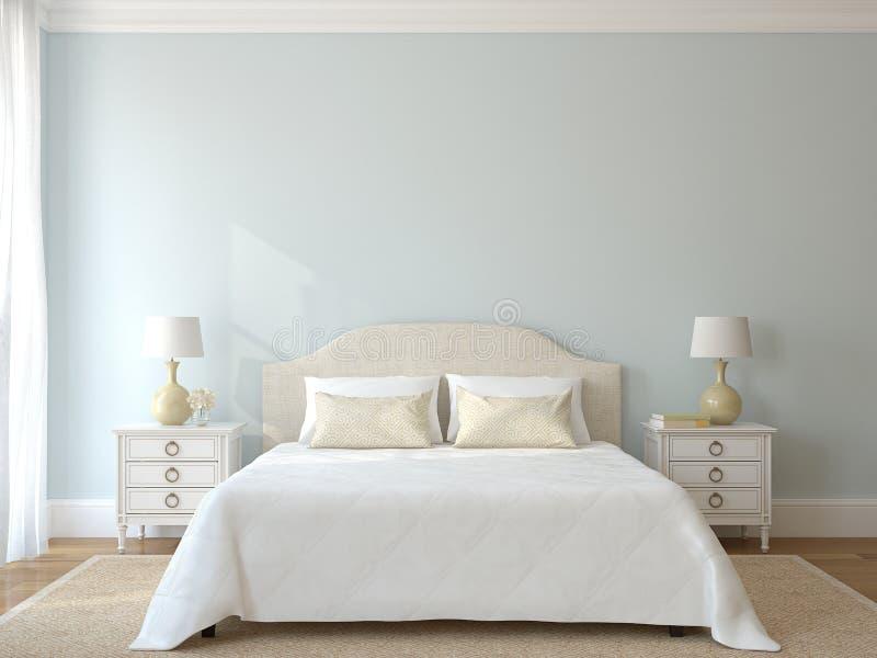 Schlafzimmerinnenraum. lizenzfreie abbildung