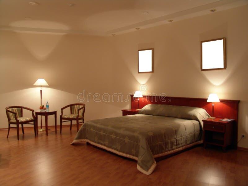 Schlafzimmersuite stockbilder