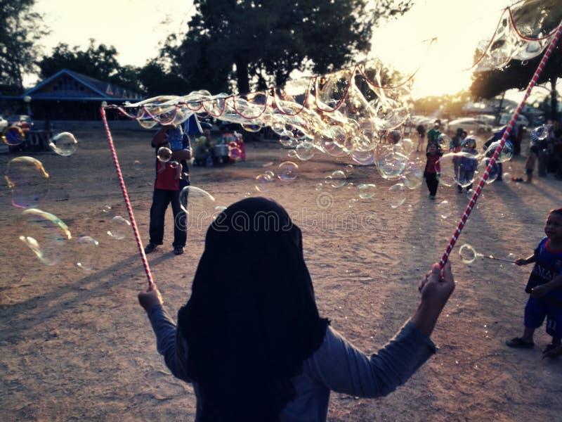 Schlag der Luftblasen stockfoto