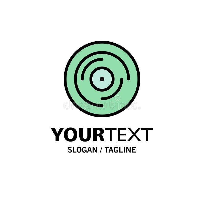 Schlag, DJ, jonglierend und verkratzen, solides Geschäft Logo Template flache Farbe vektor abbildung