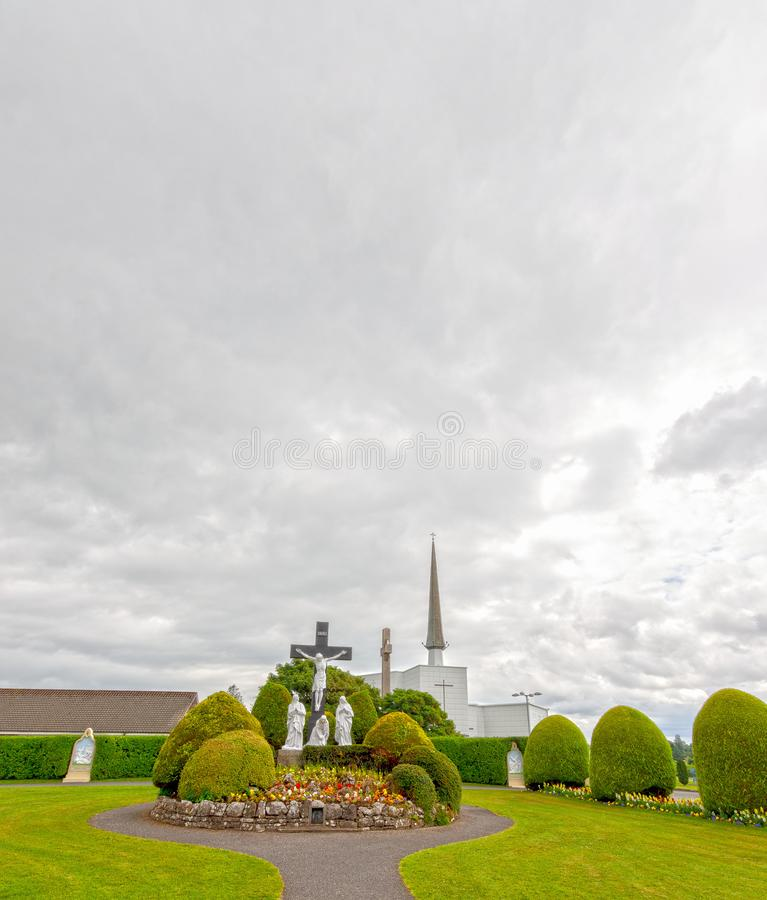 Schlag, Mayo, Irland Irland-` s nationaler Marian Shrine in Co Mayo, besichtigt vorbei über 1 5 Millionen Menschen jedes Jahr Sch lizenzfreie stockfotografie