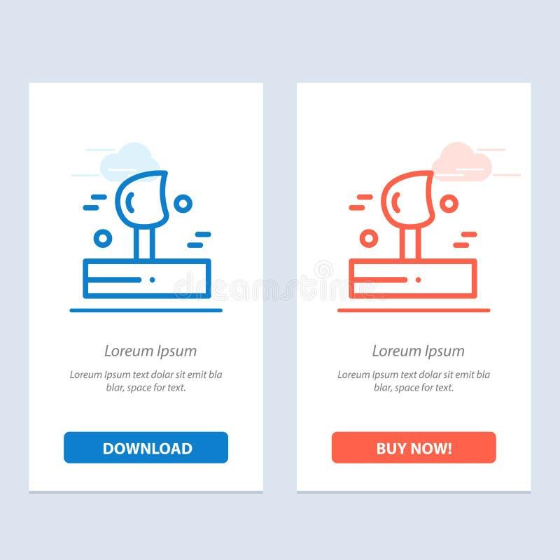 Schlag, Wetter, Wind, Winter-Blau und rotes Download und Netz Widget-Karten-Schablone jetzt kaufen lizenzfreie abbildung