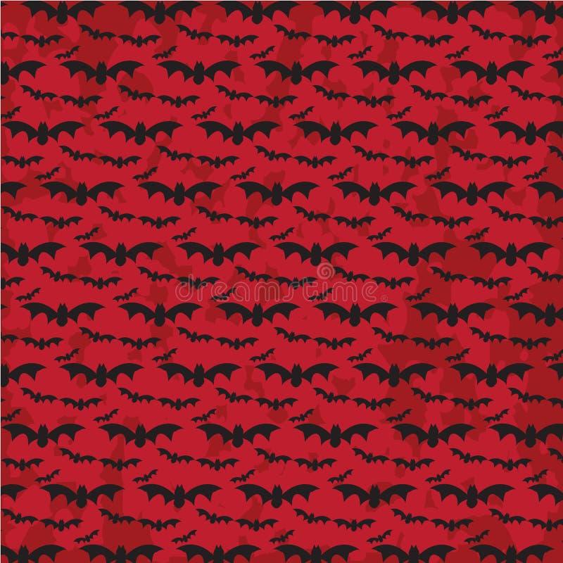 Schlagen Sie Fliegen, Halloween-Muster mit Schmutzhintergrund stockbild
