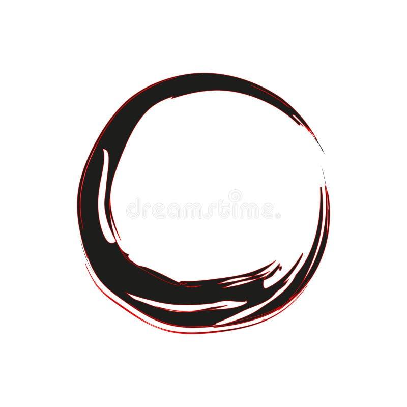 Schlagmann Enso Zen Symbol vektor abbildung