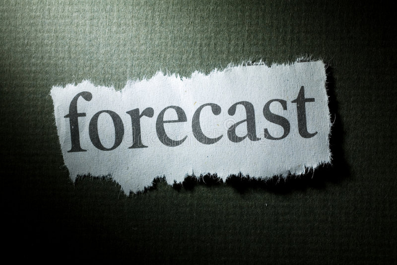 Schlagzeilen-Prognose lizenzfreies stockfoto