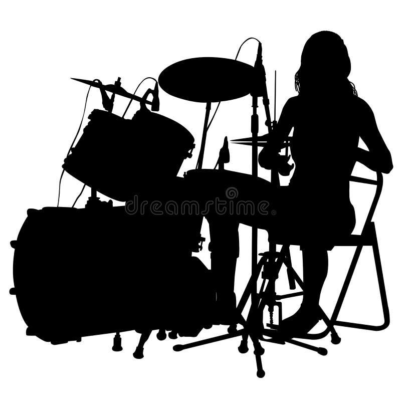 Schlagzeuger stock abbildung