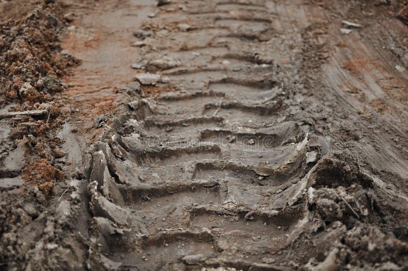 Schlamm-Spur-Hintergrund lizenzfreies stockfoto