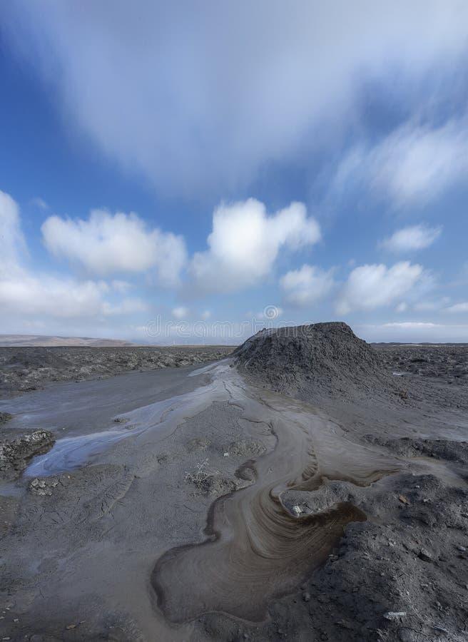 Schlamm Volcano Axtarma-Pashali lizenzfreies stockfoto