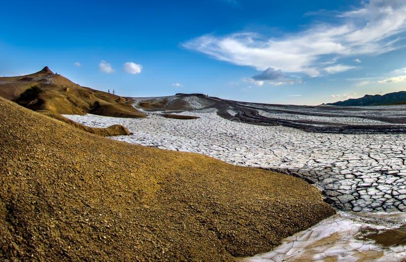 Schlamm-Vulkane von Buzau-Grafschaft Rumänien, Paclele Mici lizenzfreie stockfotografie