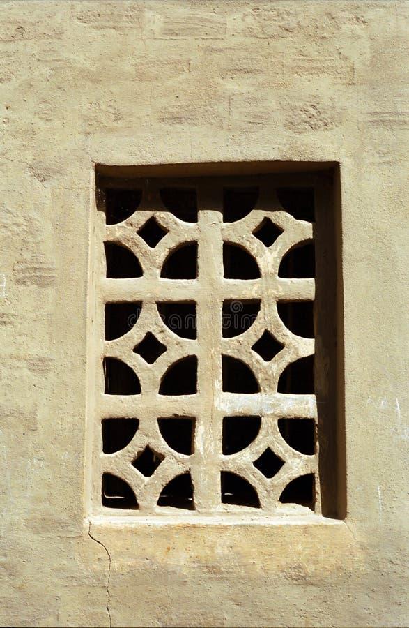 Schlammfenster, Djenne, Mali lizenzfreies stockbild
