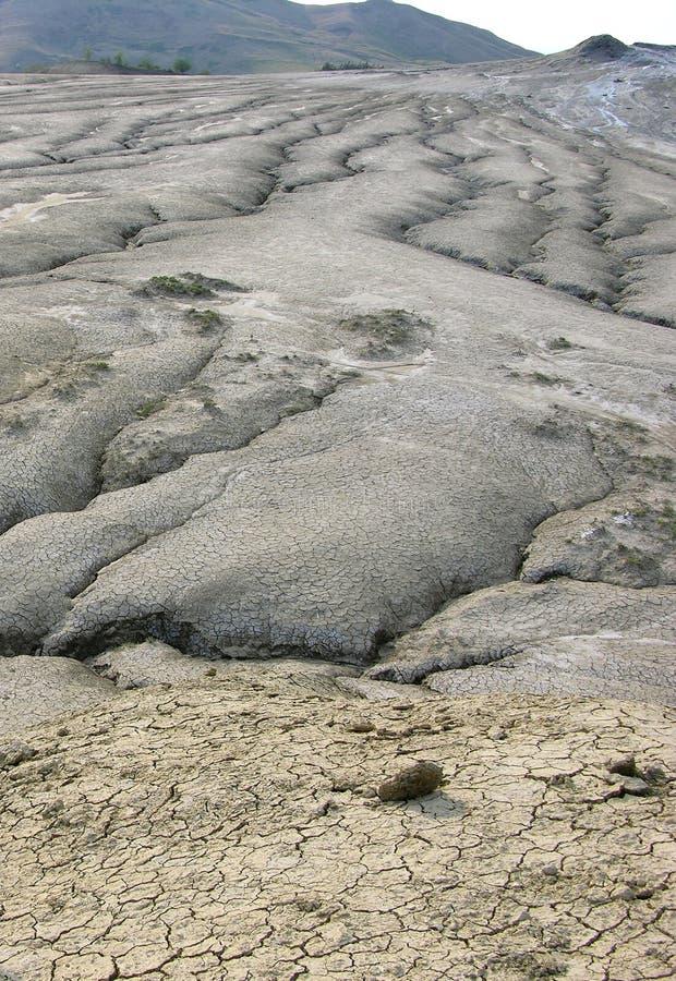 Schlammiger Vulkan stockfotos