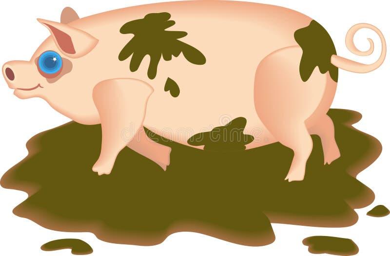 Download Schlammiges Schwein vektor abbildung. Illustration von schmutzig - 44284