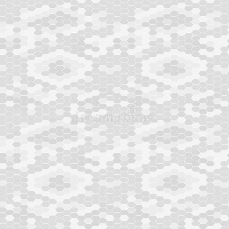 Schlangenhautbeschaffenheit Nahtloser Mustergrauhintergrund Vektor lizenzfreie abbildung