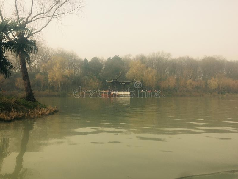Schlankes Westsee in Yangzhou stockbilder