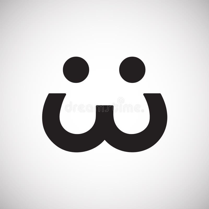 Schlaues emoji Vektor illiustration lizenzfreie abbildung
