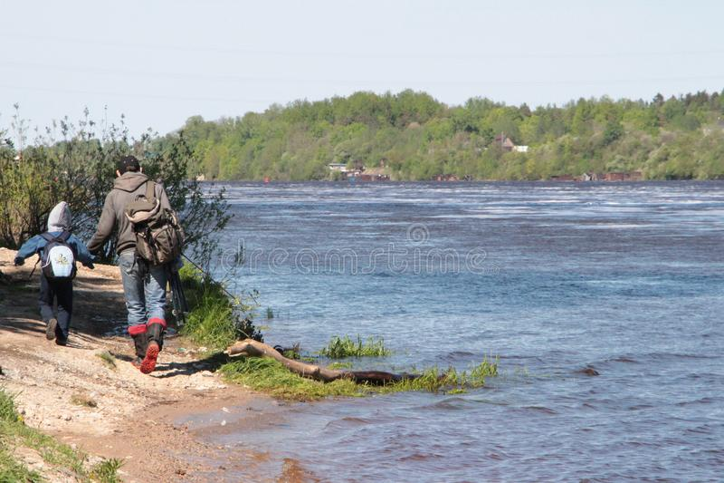 Schlechte Ökologie Russland stockfotografie