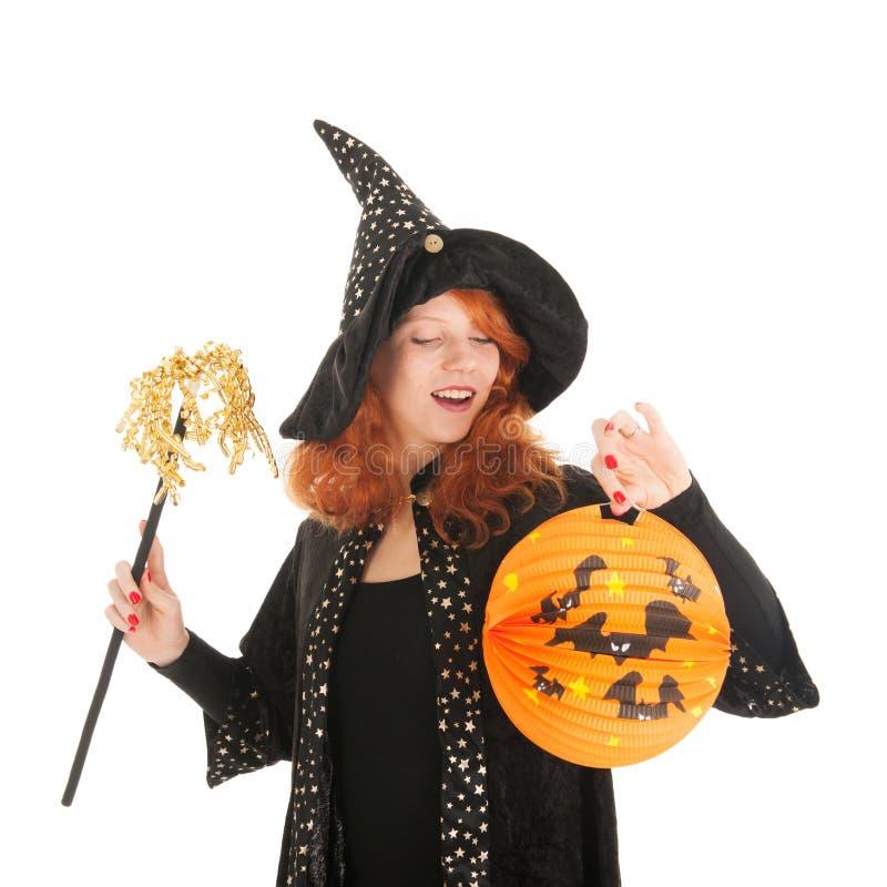 Schlechte Hexe für Halloween stockfoto