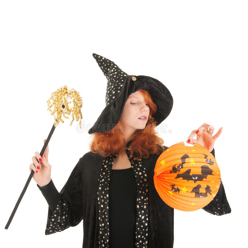 Schlechte Hexe für Halloween stockfotografie