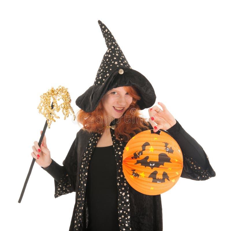 Schlechte Hexe für Halloween stockfotos