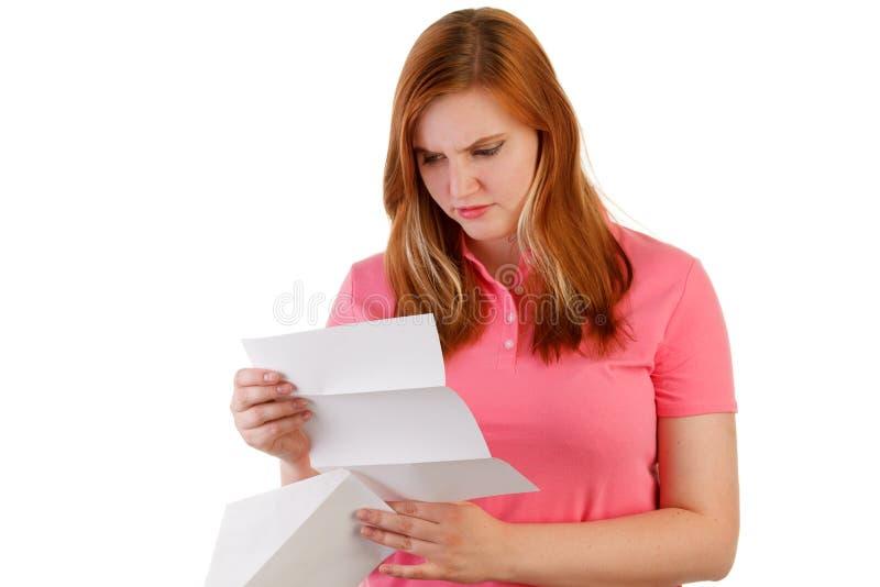Schlechte Nachrichten in einem Buchstaben lizenzfreies stockbild