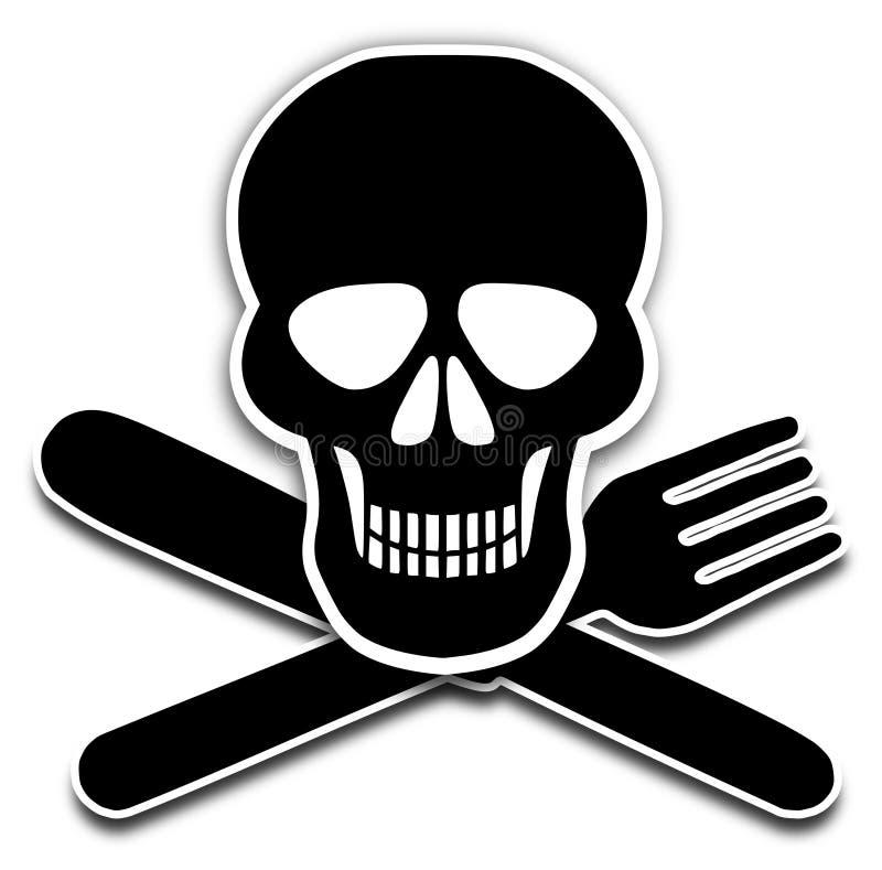 Schlechte Nahrung lizenzfreie abbildung
