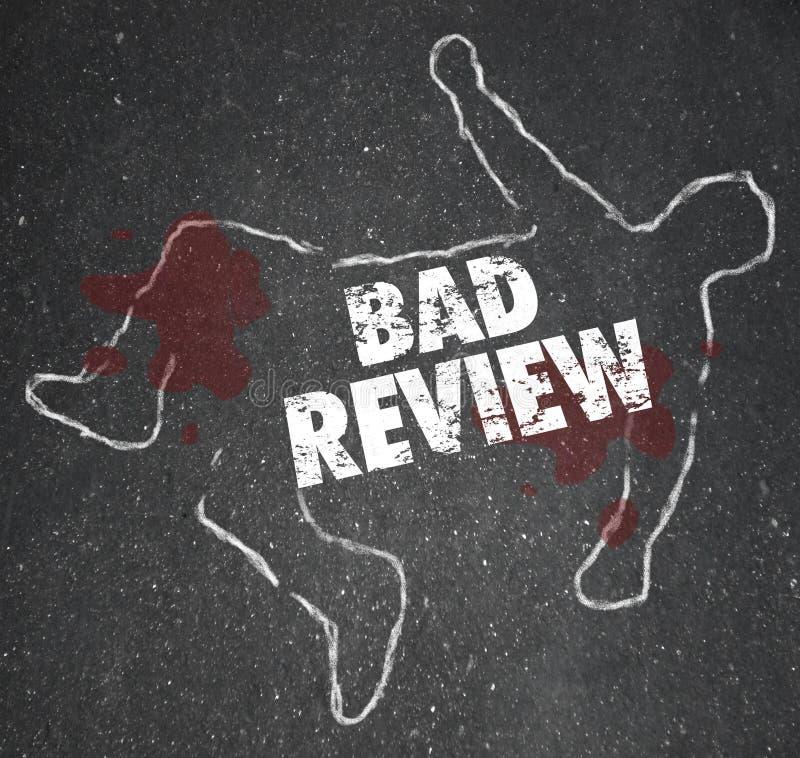 Schlechter Bericht fasst den Kreide-Entwurf ab, der durch Kritik-negative Zufuhr getötet wird lizenzfreie abbildung