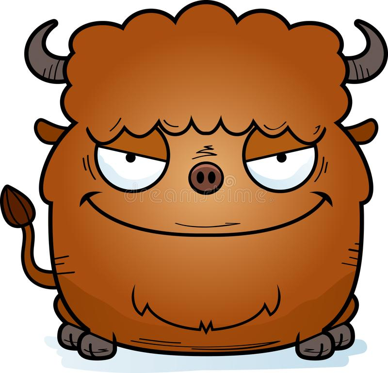 Schlechter Karikatur-Bison stock abbildung
