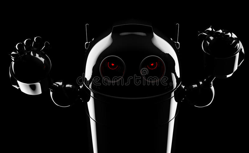 Schlechter verärgerter Roboter stock abbildung