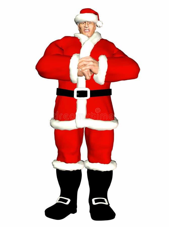 Schlechter Weihnachtsmann stock abbildung