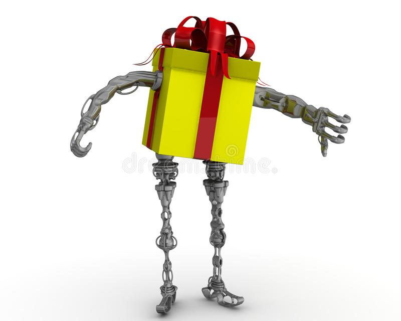 Schlechtes Geschenkkonzept lizenzfreie abbildung