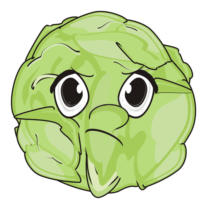 Download Schlechtes Gesicht Des Kohls Stock Abbildung - Illustration von kohl, ernte: 90225362