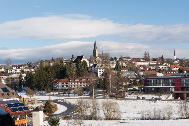 Schlechtes Leonfelden vom Winter - Österreich stockbild
