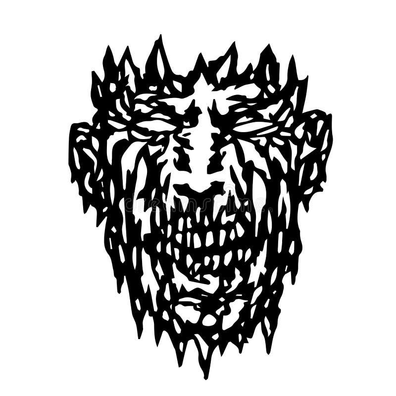 Schlechtes Monstergesicht Auch im corel abgehobenen Betrag lizenzfreie abbildung