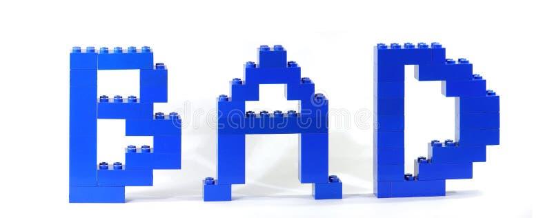 Schlechtes vom lego Spielzeug stockbilder