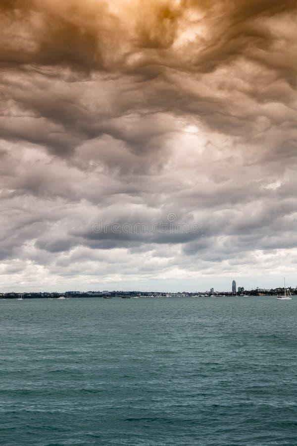 schlechtes Wetter in Auckland Neuseeland stockfoto