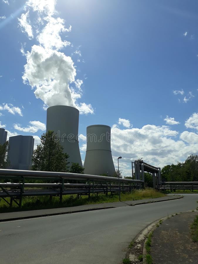 Schleenhain. Natur, clouds, summer, powerr, plant royalty free stock images