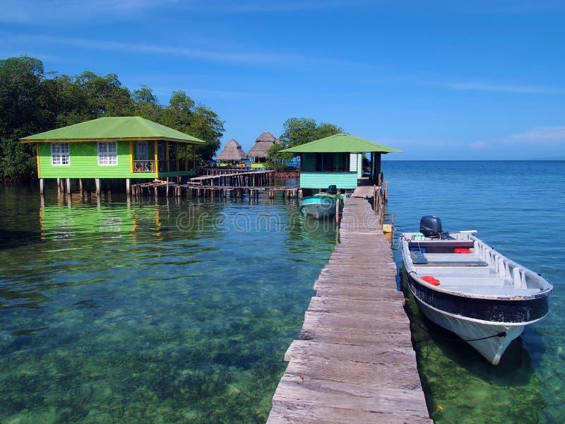 Schleichen Cay im Bocas del Toro lizenzfreies stockbild